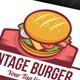 Vintage Burger Logo - GraphicRiver Item for Sale