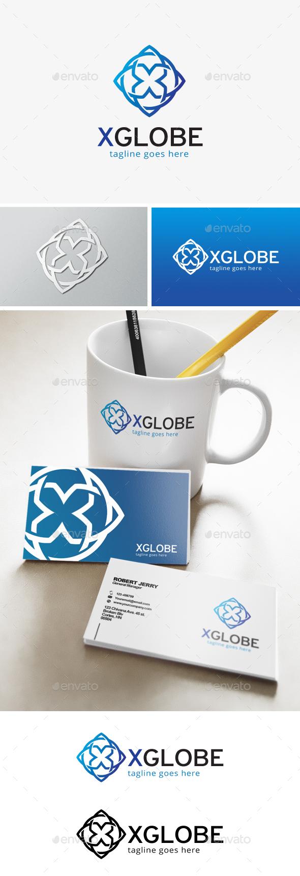 Globe Letter X Logo