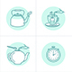 Tea Infusion Icons - GraphicRiver Item for Sale