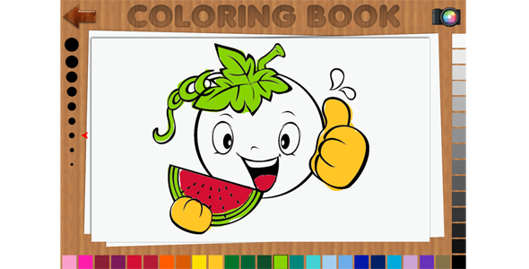 Coloring Book 48 Pages - HTML5 Educational Game Download