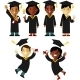 Graduates People Set - GraphicRiver Item for Sale