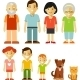 Set of Seven Family Members - GraphicRiver Item for Sale