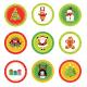 Christmas Label Set - GraphicRiver Item for Sale