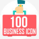 100 Business Flat Icons - GraphicRiver Item for Sale