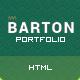 BARTON - Smart Portfolio for Creative People - ThemeForest Item for Sale