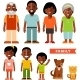 Set of African American Family - GraphicRiver Item for Sale