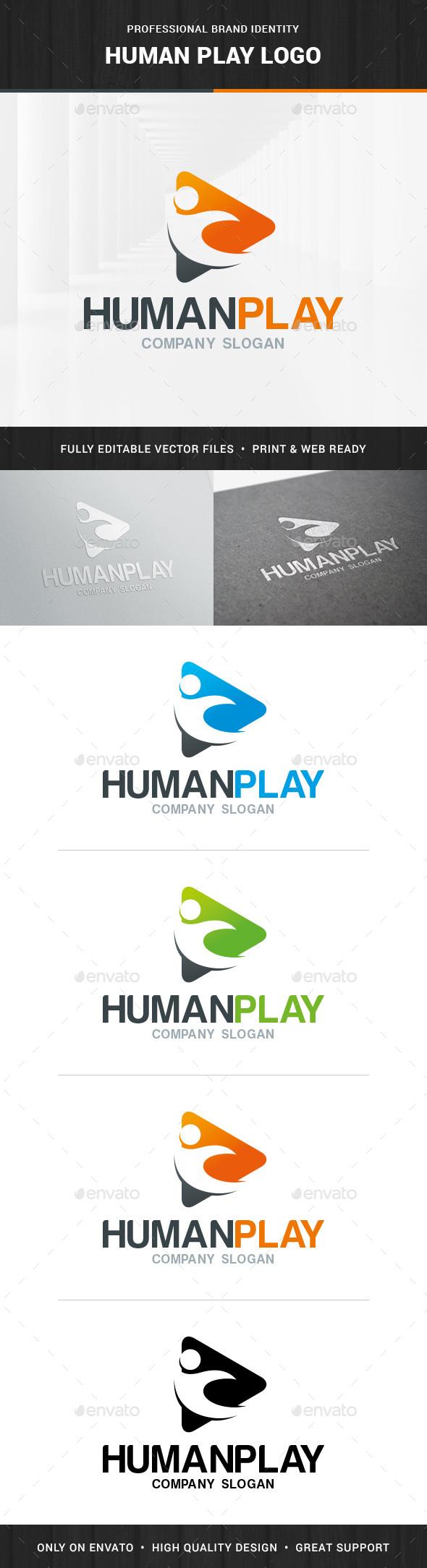 Human Play Logo Template