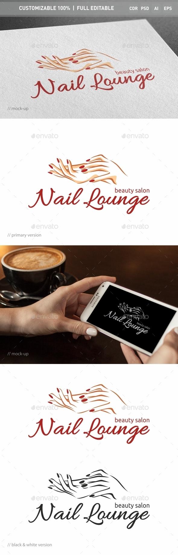Nail Lounge Logo Template