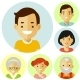 Set Of Family Avatars Icons - GraphicRiver Item for Sale