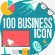 100 Business Conceptual Flat Icons - GraphicRiver Item for Sale