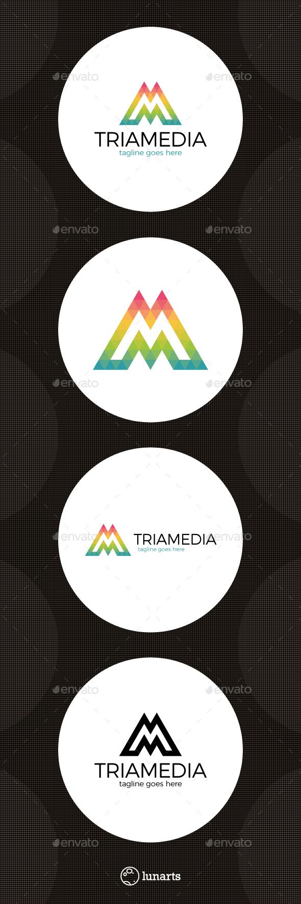 Triangle Media Logo - Letter M