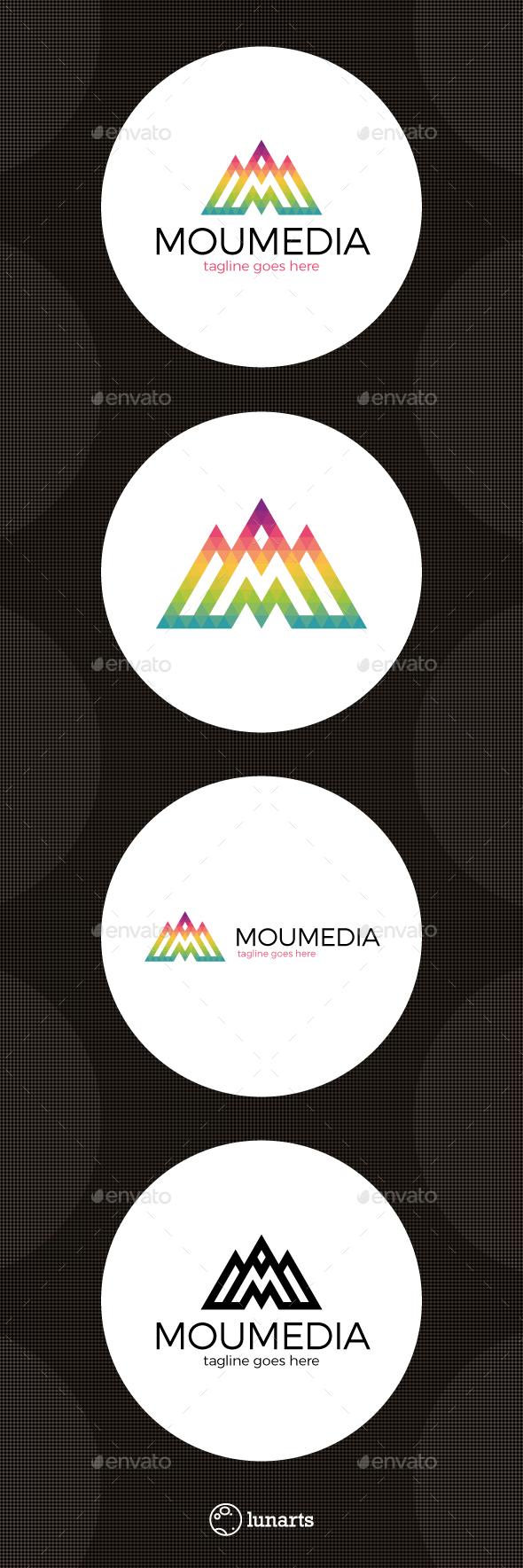 Mountain M Letter Logo