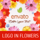 Logo in Flowers - VideoHive Item for Sale