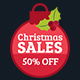 Christmas Sales Facebook Seamless Cover - GraphicRiver Item for Sale
