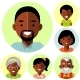 African American Family Icons - GraphicRiver Item for Sale