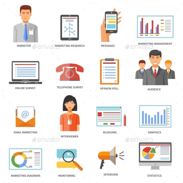 Marketing Colored Icons