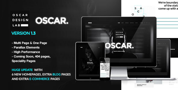 Oscar - Minimal Multipurpose Parallax One Page Template