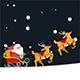 Christmas Facebook Seamless Cover With Santa - GraphicRiver Item for Sale
