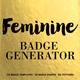 Feminine Badge Generator - GraphicRiver Item for Sale