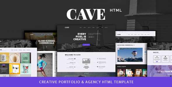 Cave - Creative Multipurpose Bootstrap Template