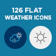 126 Flat Weather Icons - GraphicRiver Item for Sale