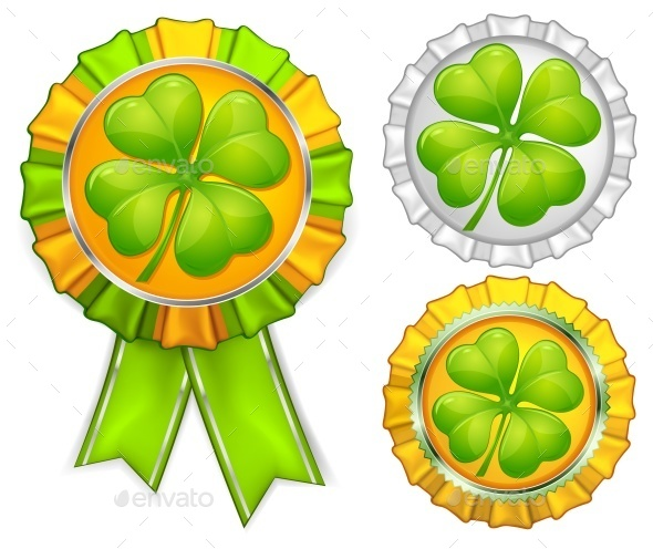Award Ribbons with Clover