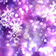 Christmas Snow Flakes On Purple Background - VideoHive Item for Sale