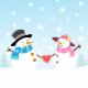Snowman Couple - GraphicRiver Item for Sale