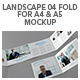 Landscape 04 Fold For A4 & A5 Mockup - GraphicRiver Item for Sale
