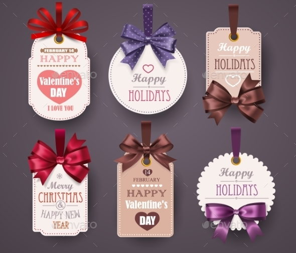 Retro Labels with Bows