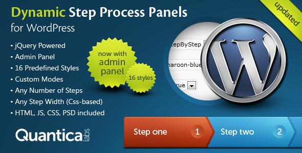 Dynamic Step Process Panels for WordPress