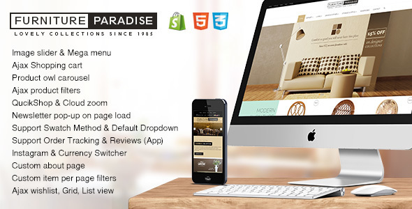 Furniture Paradise - Responsive Interior Shopify Theme