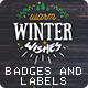 16 Christmas Vintage Badges and Labels - GraphicRiver Item for Sale