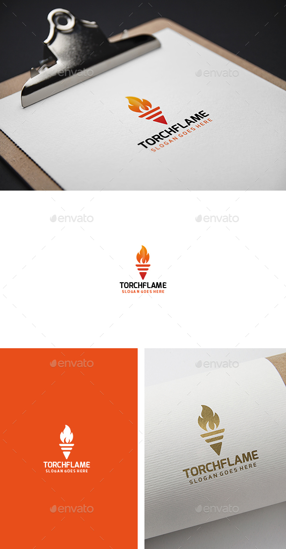 Torch Flame Fire Logo