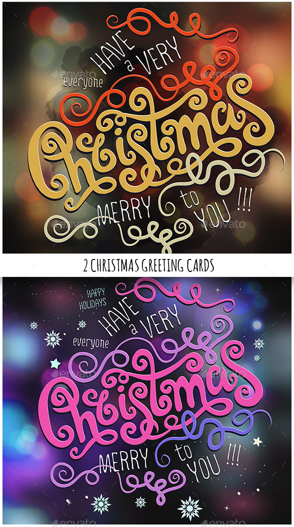 Merry Christmas Hand Lettering Set