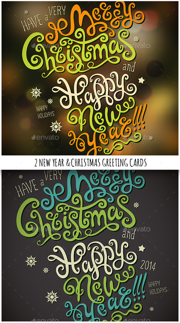 Christmas & New Year Hand Lettering Set