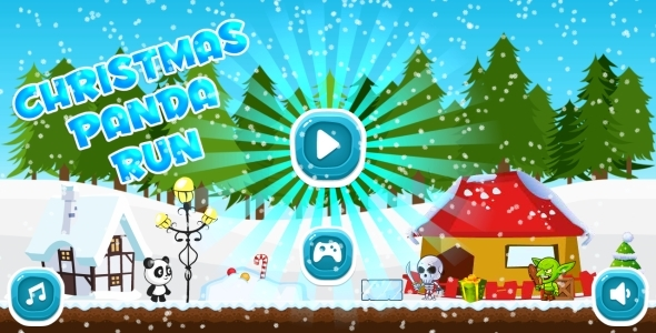 Christmas Panda Run - HTML5 Mobile Game in HD + Android AdMob (Construct 3 | Construct 2 | Capx) Download