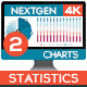 4K NextGen Resizable Statistics Charts & Infographics Pack Two - VideoHive Item for Sale