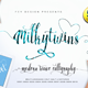Milkytwins Modern Wave Calligraphy - GraphicRiver Item for Sale
