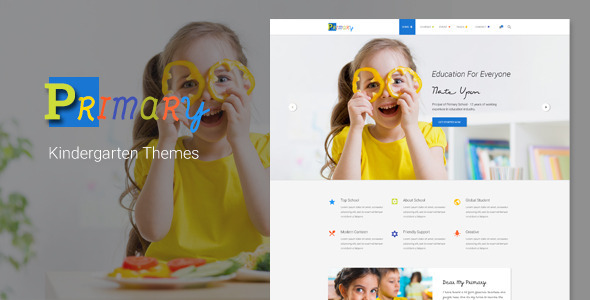 Primary – Kids & Kindergarten School PSD Template
