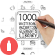 1000 Hand Drawn Icons & Papercuts - GraphicRiver Item for Sale