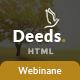Deeds - Simple Nonprofit Church Website Template - ThemeForest Item for Sale