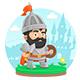 Warrior Character Castle Legend - GraphicRiver Item for Sale