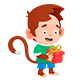 Monkey with Holiday Gifts - GraphicRiver Item for Sale