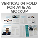 Vertical 04 Fold For A4 & A5 Mockup - GraphicRiver Item for Sale