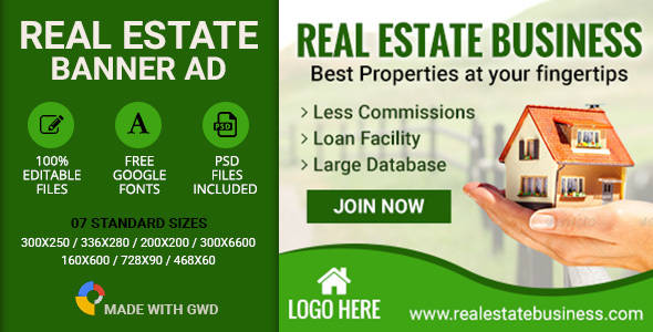 GWD | Real Estate Banners - 7 Sizes Download