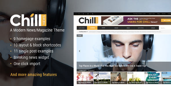 Chill News - Magazine Theme
