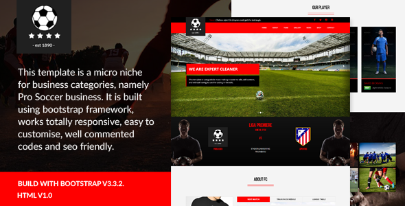 Pro Soccer - Football Club Template
