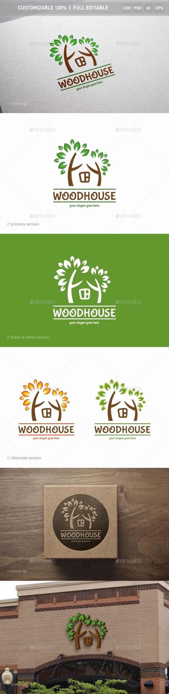 Woodhouse Logo Template