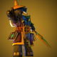 Low Poly Wizard Character Model - 3DOcean Item for Sale